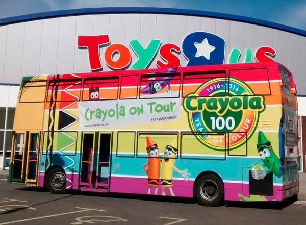 6-00x442 Promotional Campaign Vehicle Logistics_Bus_Crayola