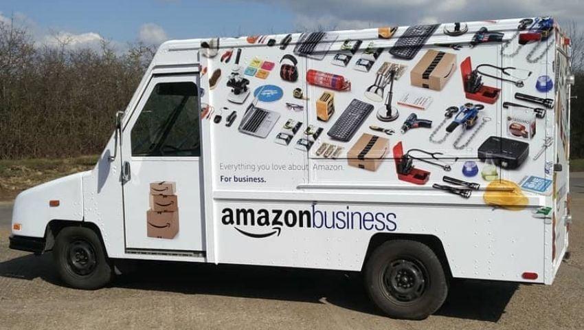 Amazon US Postal Truck