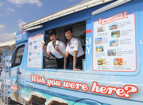 British Airways ice cream van activity