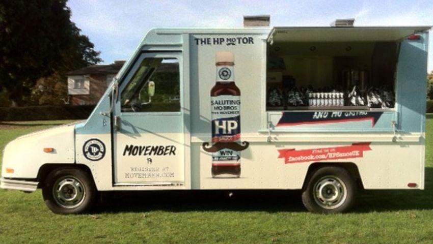 US Postal van_HP Movember fundraiser tour
