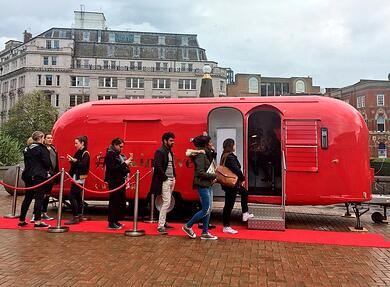 Cafe Rouge brand activation using Airstream hire