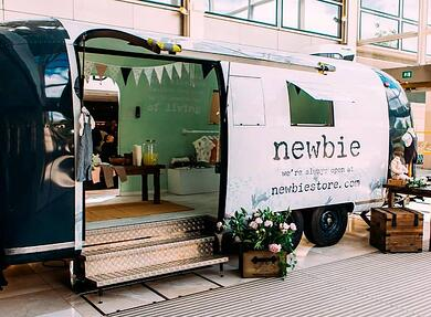 Newbie mobile retail space using bespoke Airstream