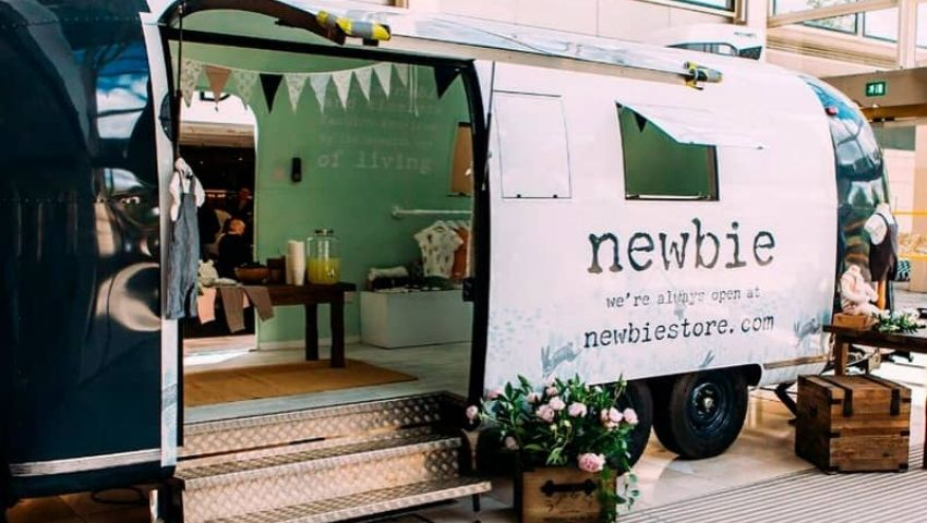 Newbie Airstream pop-up retail trailer