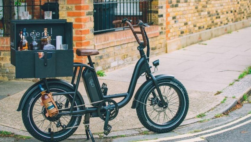 Ardbeg whisky promotional drinks sampling electric bike