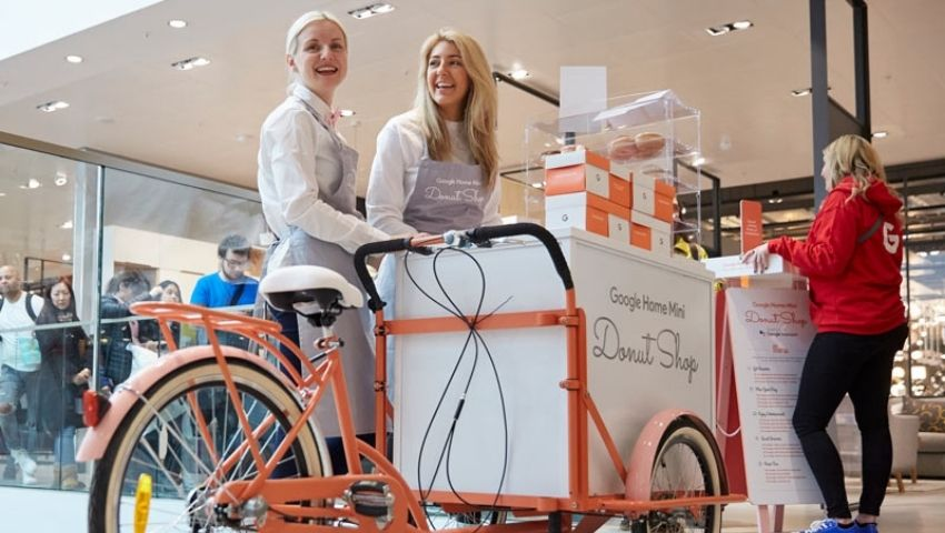 Promotional bike hire for Google Home campaign