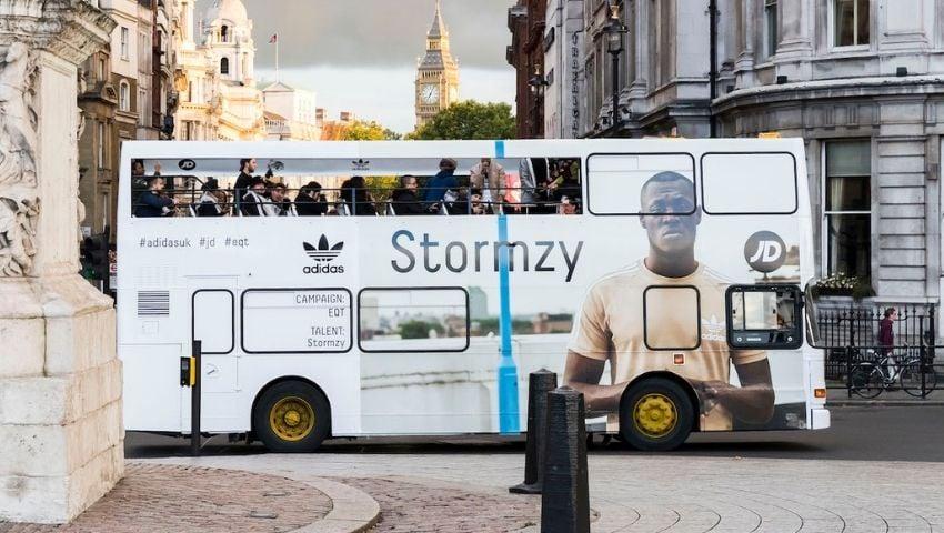 Adidas tour double decker bus hire