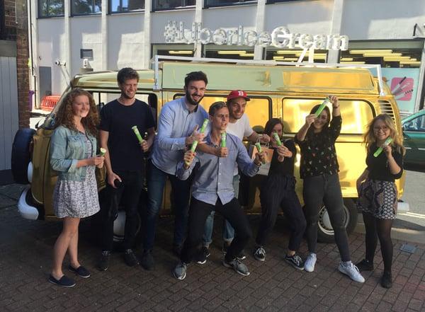 Sampling & awareness campaign for Uber using a VW camper van
