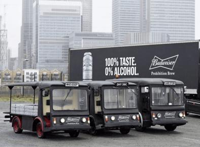 Budweiser branded promotional milk float hires