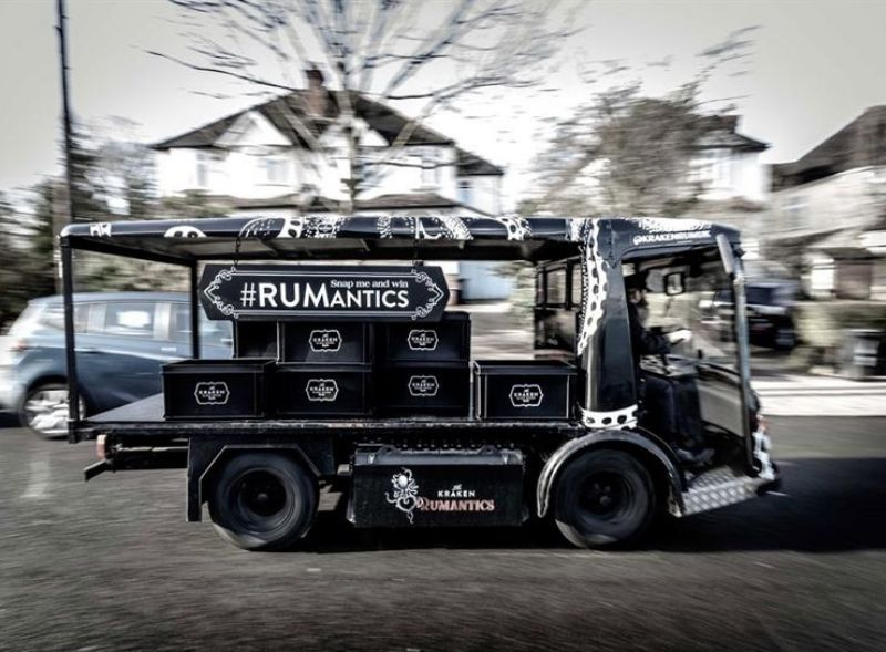 Kraken brand campaign with electric milk float hire