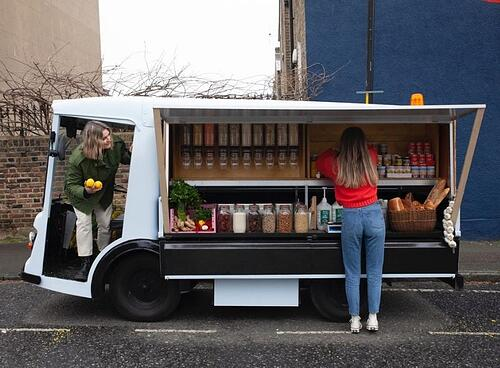 Getting out to doorsteps and the local area in an electric milk float