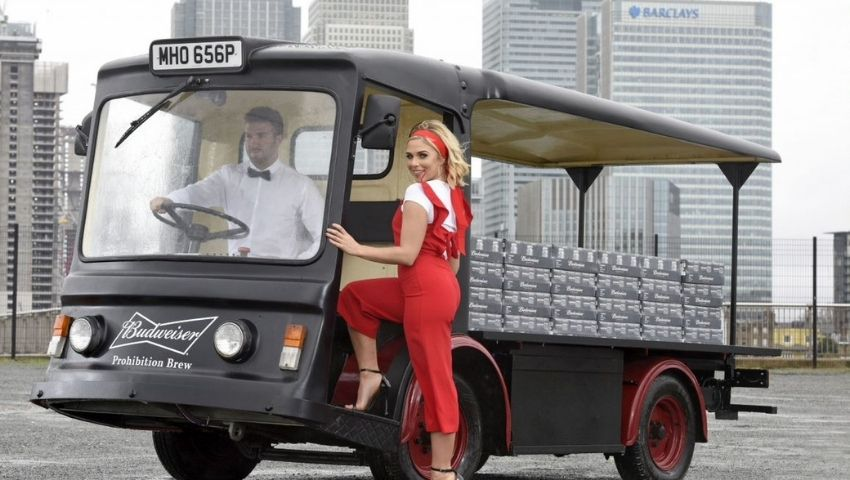 Budweiser brand campaign using electric milk float hire