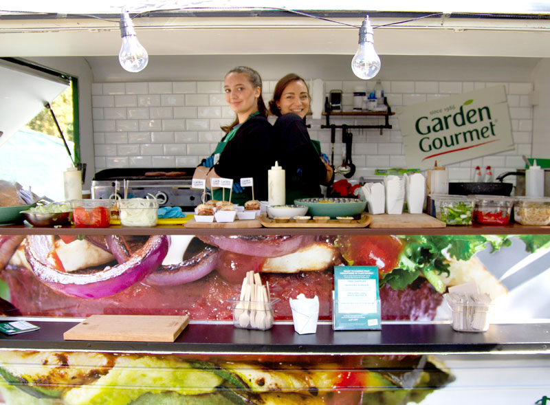 Staff working in food truck