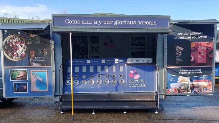 Dorset Cereals exhibition trailer hire for events