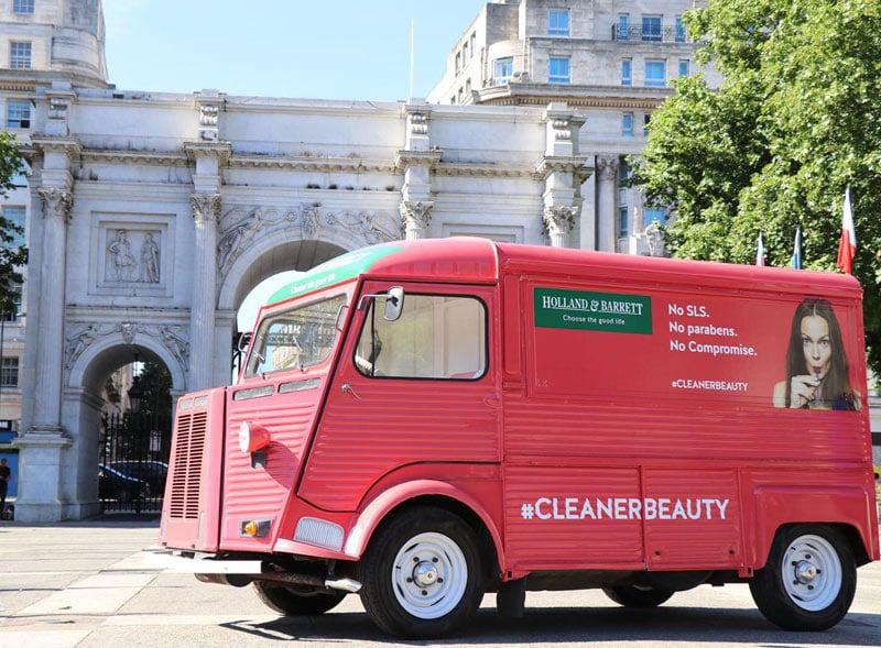 Holland and Barrett branded promotional H-Van