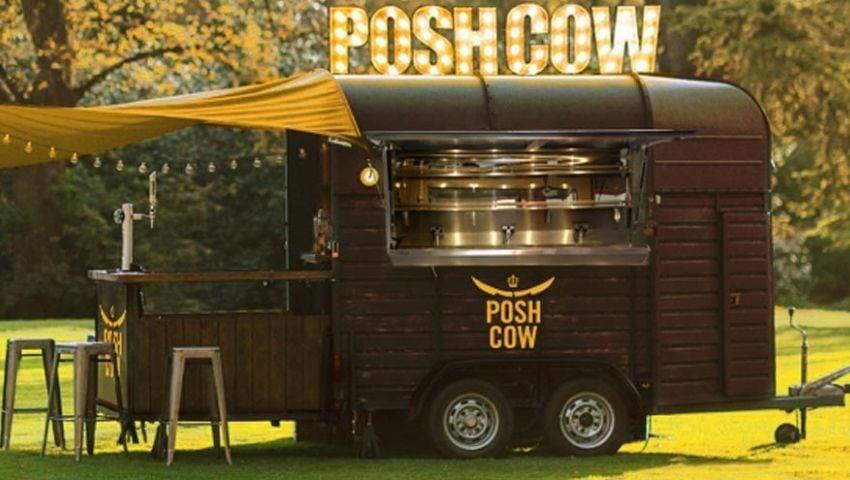 PoshCow horsebox trailer bar hire