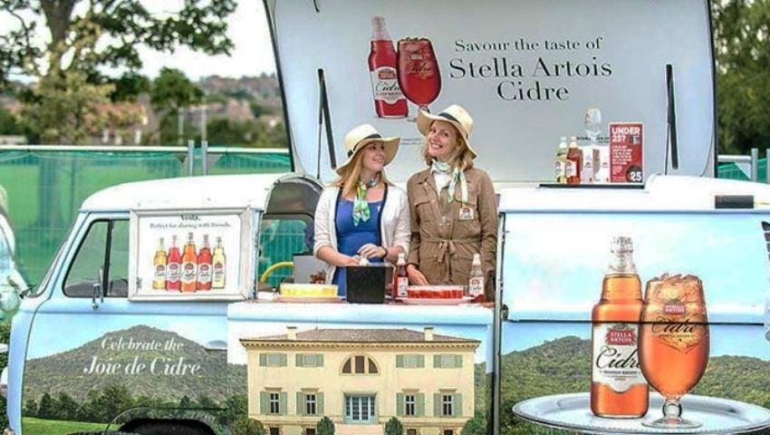 Stella Artois pop up camper bar hire