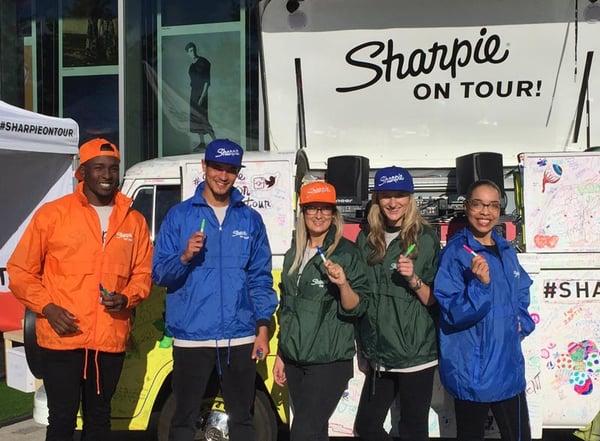 Sharpie On Tour promotional team