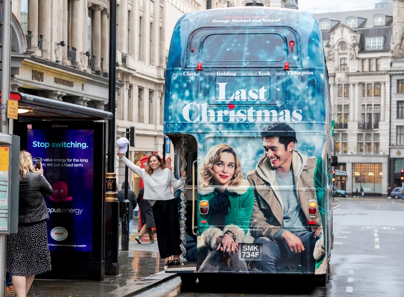 Last Christmas Routemaster Bus Hire Movie Launch