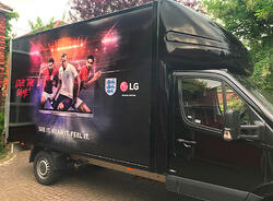 LG competition giveaway using branded Luton van
