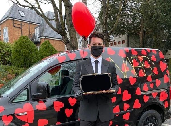 Nars doorstep influencer engagement campaign using promotional vehicle