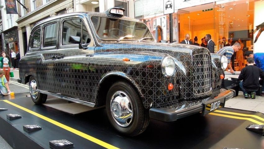 Dior Taxi hire for branded PR stunt