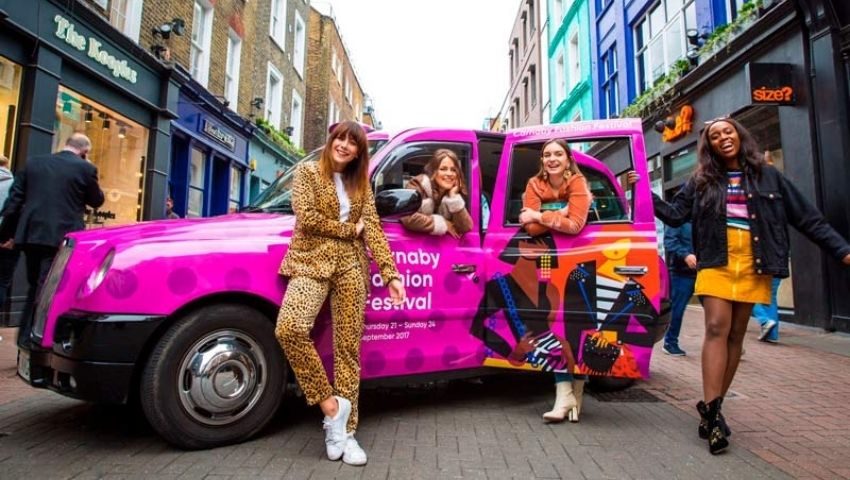 Carnaby Fashion Festival taxi backdrop hire
