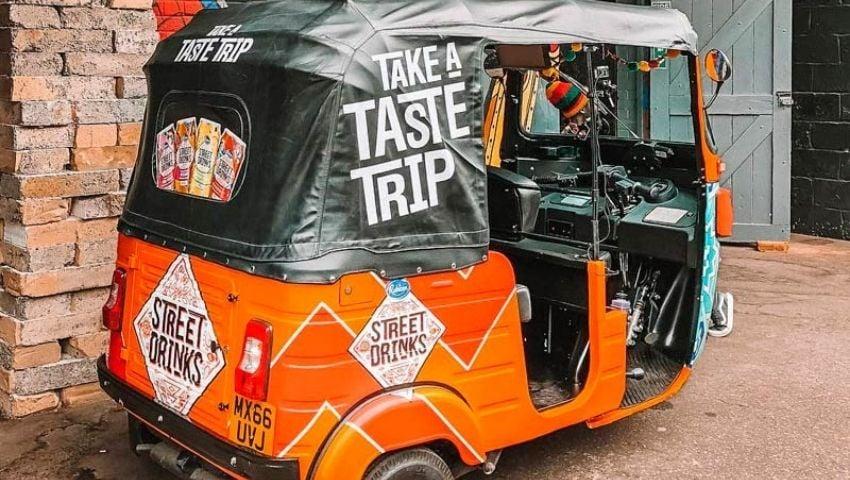 Street drinks tuk tuk hire for brand tour