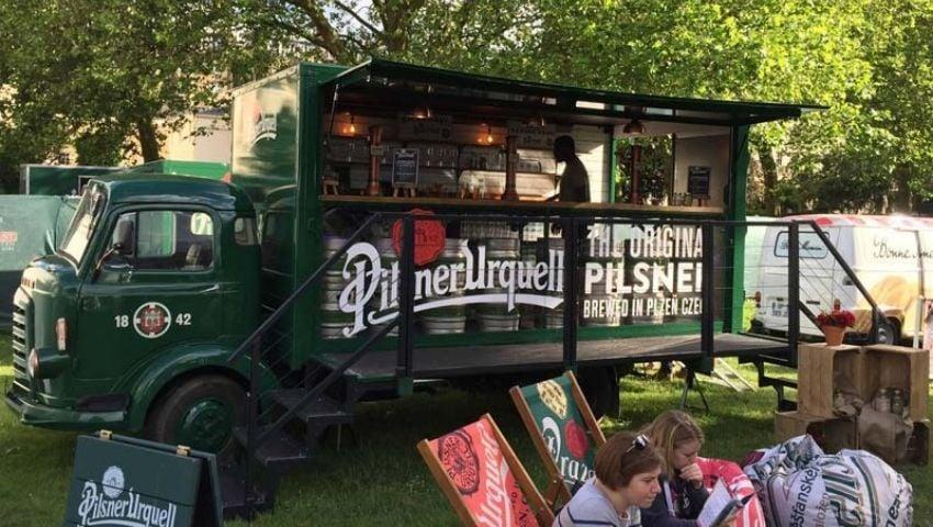 Pilsner Urquell vintage promotional vehicle conversion