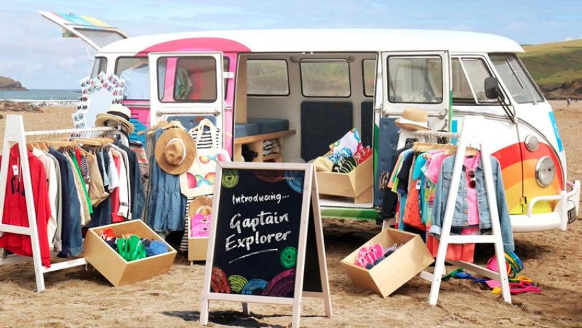Gap VW Camper van hire for brand campaign