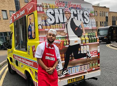 Jax Jones album launch using ice cream van hire