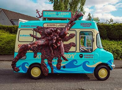 Netflix Stranger Things launch ice cream van hire