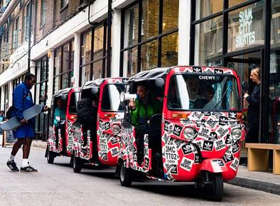Adidas tuk tuk brand awareness activation