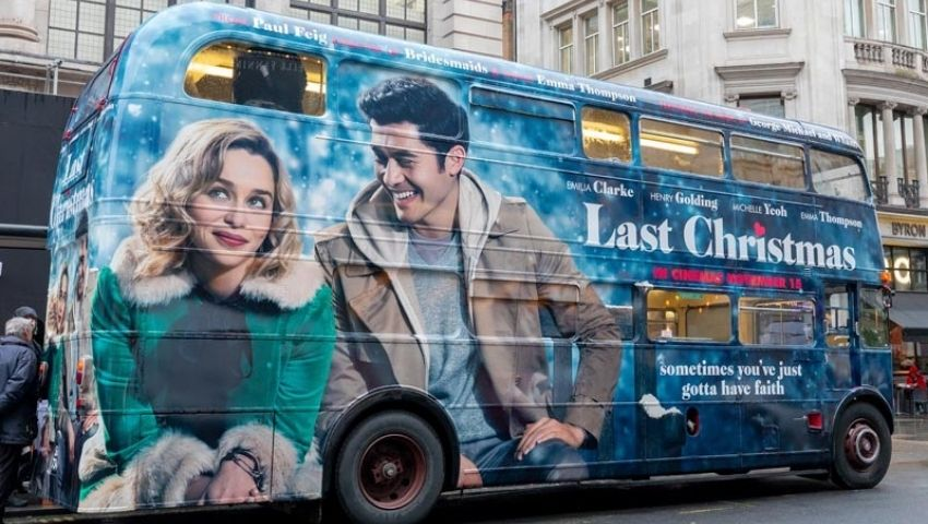 Last Christmas Routemaster bus hire for PR stunt