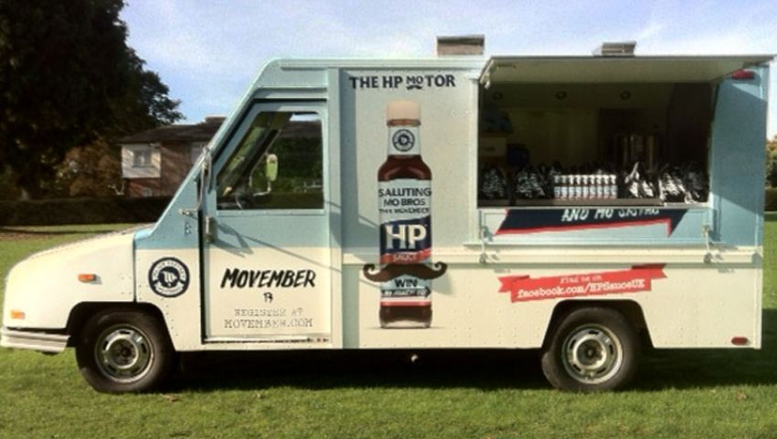 HP Sauce postal truck hire for food sampling campaign