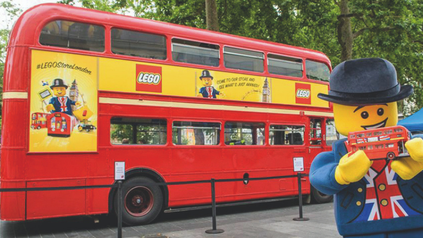 Lego Routemaster bus hire for brand activation