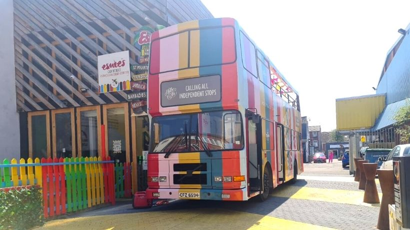 Striped double decker bus in York - Planning promotional campaign vehicle logistics & routes